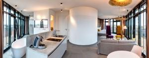 Das Highlight des Hotels sind die beiden 35 und 45 qm großen Penthouse Suiten.