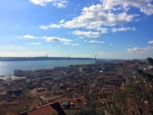 Blick auf Lissabon von der Burg aus.