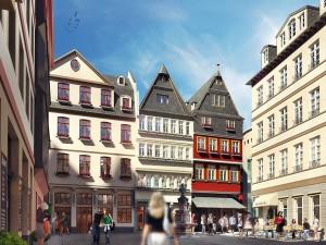 Dom-Römer-Quartier - Wiederaufbau der Frankfurter Altstadt - © HHVISION, DomRömer GmbH