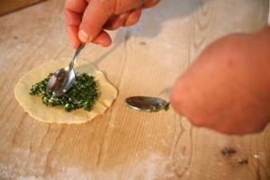 Tirtles mit einer Spinat-Quark-Füllung – ein kulinarisches Gedicht. – Foto: Freddy Planinschek