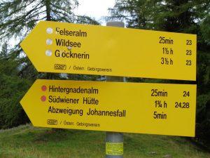 Vorbildliche Beschilderung: Sich in Obertauern zu verlaufen, dürfte kaum möglich sein. - Foto: Dieter Warnick