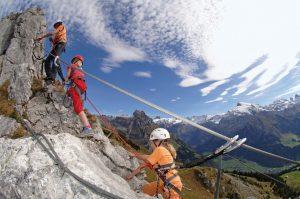 Klettersteig Verborgene Welt : Klettern