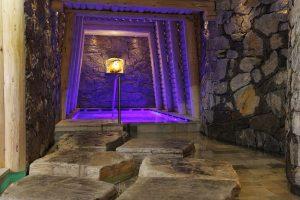 Der Stollenbereich in der Sauna. Foto: Hotel Plunhof