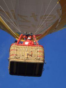 Stattliche 25 Meter hoch ist ein durchschnittlicher Heißluftballon.