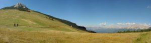 Das Panorama ist gewaltig; links das Weißhorn. - Foto: TVB Eggental