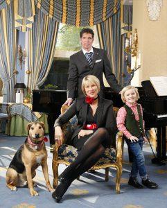 Katja Newman mit Familie.