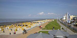 Strand und Strandpromenade des Nordseeheilbades Cuxhaven-Duhnen. - Foto: Nordseeheilbad Cuxhaven