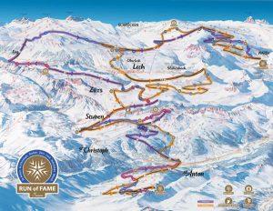 """Ab Winter 2016/17 können Pistenfans das gesamte Arlberg-Gebiet auf dem """"Run of Fame"""" erkunden. - Foto: Ski Arlberg"""