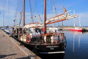 Im geschützten Hafen von Ærøskøbing.