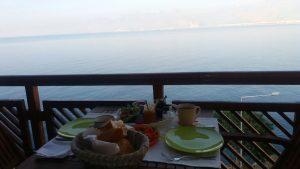 Welch ein Ausblick beim Frühstück.
