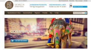 Die cosmopol-Internetseite.