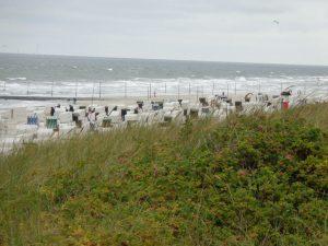 Blick von der Promenade auf den Strand. - Foto: Dieter Warnick