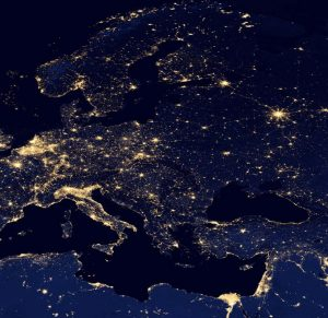 Europa bei Nacht. Foto: NASA