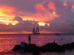 Magisch: Der Sonnenuntergang über dem Atlantik.