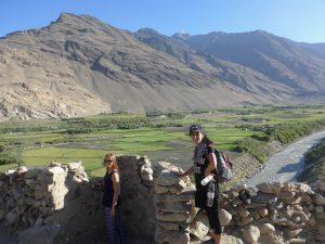 Ruine Qakha mit Furough, Blick auf Afghanistan.