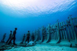 """Im """"Museo Atlántico"""" vor Lanzarotes Südküste verbinden sich Kunst und Natur harmonisch miteinander. - Foto: Jason deCaires Taylor / CACT Lanzarote"""