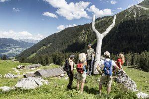 Skulpturen von Roland Haas sind entlang der Gauertaler AlpkulTour zu sehen. - Foto: Montafon Tourismus