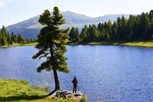 Auf dem neuen BergeSeen Trail gibt es die schönsten Seen Österreichs zu entdecken. - Foto: Steiermark Tourismus/Gery Wolf.