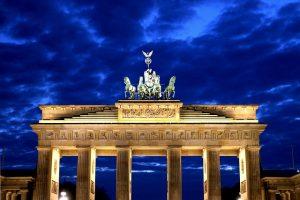 Berliner Wahrzeichen - das Brandenburger Tor.