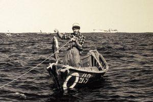 In Ein-Mann-Booten fischten die Seeleute den Bacalhau.