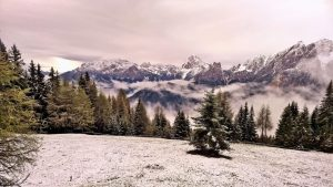 Winter im Mai in den Dolomiten bei Prags.