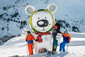 Mit dem großen weißen Bären auf Du und Du. - Foto: TVB Obertauern
