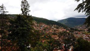 Der Ausblick über Kigali vom Richard-Kandt-Museum.
