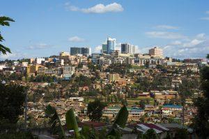 Die Innenstadt Kigalis.