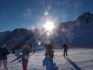 Klein aber fein ist das Skigebiet in Ladurns.