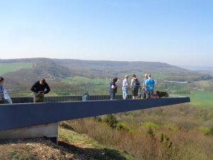 Der neue SkyWalk am Sonnenstein in Holungen ist nichts für Menschen mit Höhenangst. – Foto: Dieter Warnick