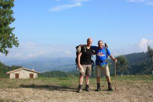 Thomas & Bruno nahe Gubbio.