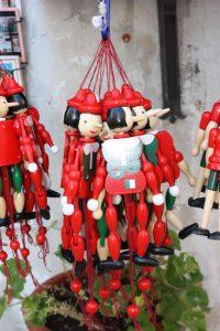 Pinocchios in Gubbio.