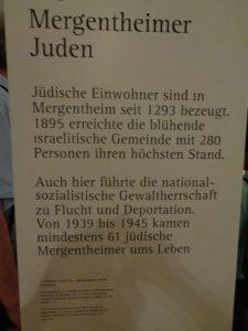 Bad Mergentheim I: Hinweis auf Juden, die in Bad Mergentheim ihr Zuhause hatten. - Foto: Dieter Warnick