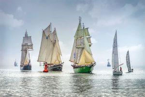 """Zum 17. Mal startet Ende September die älteste Traditionssegler-Regatta an der Nordsee, der """"Wilhelmshaven Sailing Cup"""". – Foto: Rainer Ganske-Wilhelmshaven Touristik"""
