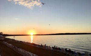 Sonnenuntergang in Traverse City.