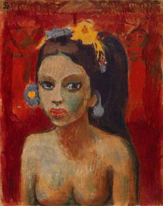 """Die """"Balinesin I"""" entstand um 1926, während einer Balireise des Expressionisten. - Foto: Stiftung Im Obersteg im Kunstmuseum Basel / Martin P. Bühler"""