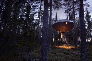 Baumhaus in Schweden. – Foto Treehotel Schweden