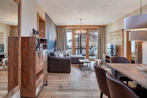 Jede Menge Platz bieten die elegant eingerichteten Wohnungen. – Fotos: Wildkogel Resorts