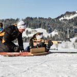 Training unter fachmännischer Aufsicht für den Volksbiathlon. - Foto: Sportalpen