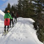Skitourengeher auf dem Weg nach oben. - Foto: Kunz-PR