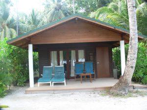 Eine von 77 Beach Villas am Rande des Dschungels.