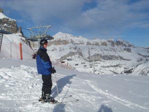 Für sportlich orientierte Skifahrer ist Arabba ein geeigneter Platz für vielfältige Exkursionen. - Foto: Birgit Weichmann