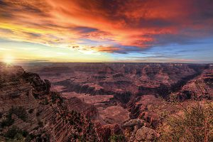 Sonnenuntergang über dem Grand Canyon. – Foto: Jim Greer