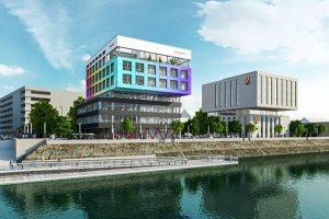 Direkt am Duisburger Innenhafen liegt das 7 Days Premium Hotel Duisburg City-Centre – ein nagelneues Haus. - Foto: 7 Days Premium Hotel Duisburg
