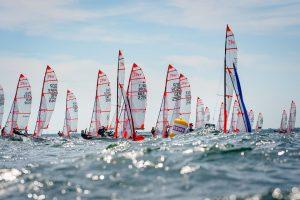 Der 29er ist ein Skiff für Erwachsene und Jugendliche. Das Boot ist ein One Design-Boot, das heißt, alle Boote sind baugleich, vom Segel bis zum Rumpf. - Foto: Sascha Klahn