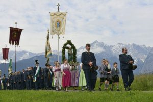 Fronleichnams-Prozession im Zugspitzland. – Foto: Zugspitzland / Wolfgang Ehn