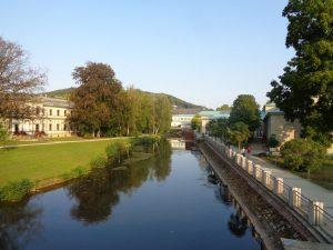 Morgenstimmung an der Fränkischen Saale in Bad Kissingen. – Foto: Dieter Warnick