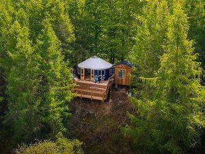 Luxus-Camping in Jurten für bis zu drei Personen bietet das Adventure Camp bei Haslev im Süden Seelands. – Foto: SydkystDanmark
