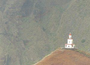 Eine Kirche wie ein Ausrufezeichen: La Candeleria auf dem Monte Roja.
