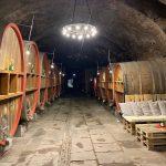 Im Kellereischloss zu Hammelburg lagern diese Holzfässer. Bis zu 700 000 Liter Wein beherbergte das barocke Kellereischloss der fuldischen Fürstäbte im 18. Jahrhundert. – Foto: Verena Dotzel